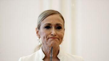 Cristina Cifuentes antes de anunciar su dimisión