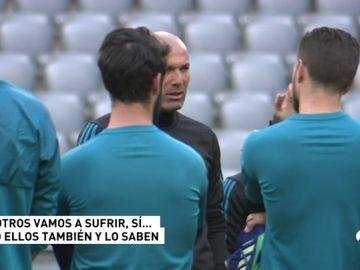"""La charla de Zidane a sus jugadores antes del Bayern: """"Tenemos que sufrir, pero ellos también... y lo saben"""""""