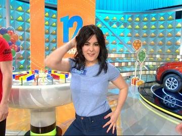 Gemita conquista el plató de 'La ruleta de la suerte' con esta imitación de Shakira