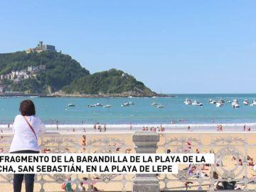 San Sebastián dona un fragmento de la barandilla de La Concha a Lepe