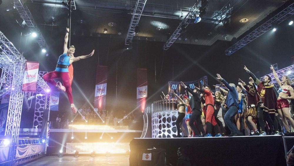 Fiesta de superhéroes en la grabación del tercer programa de 'Ninja Warrior'