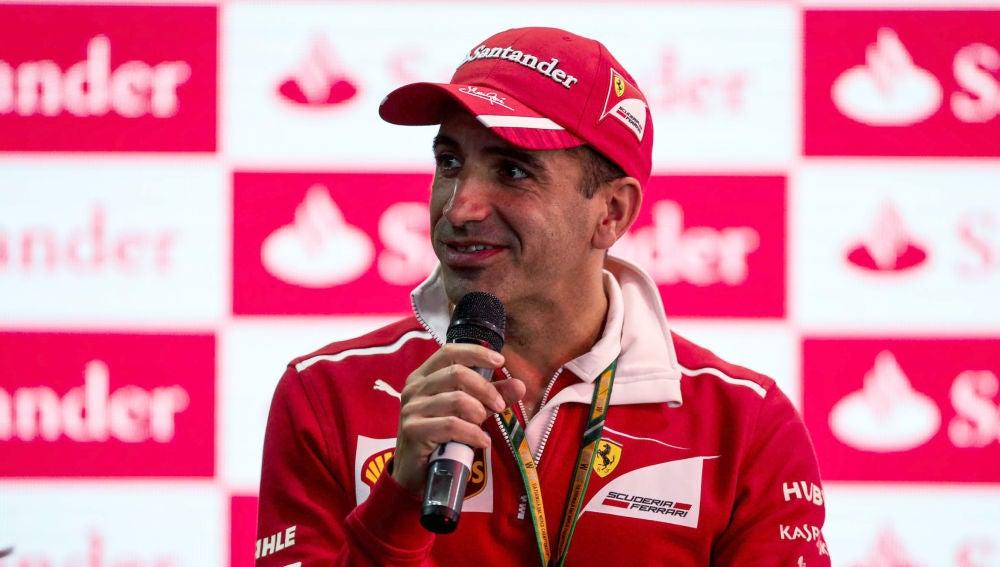 Marc Gené, en un acto de Ferrari