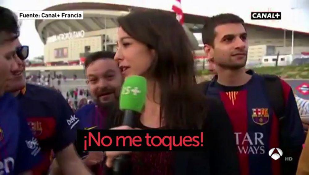"Una periodista francesa, acosada por aficionados del Barça: ""¡No me toques!"""