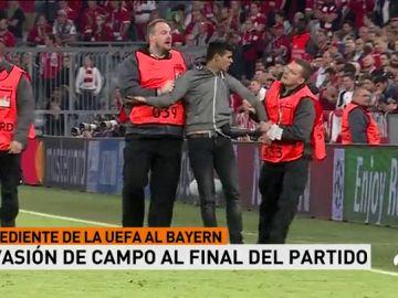 La UEFA abre expediente al Bayern por los incidentes tras el partido contra el Madrid