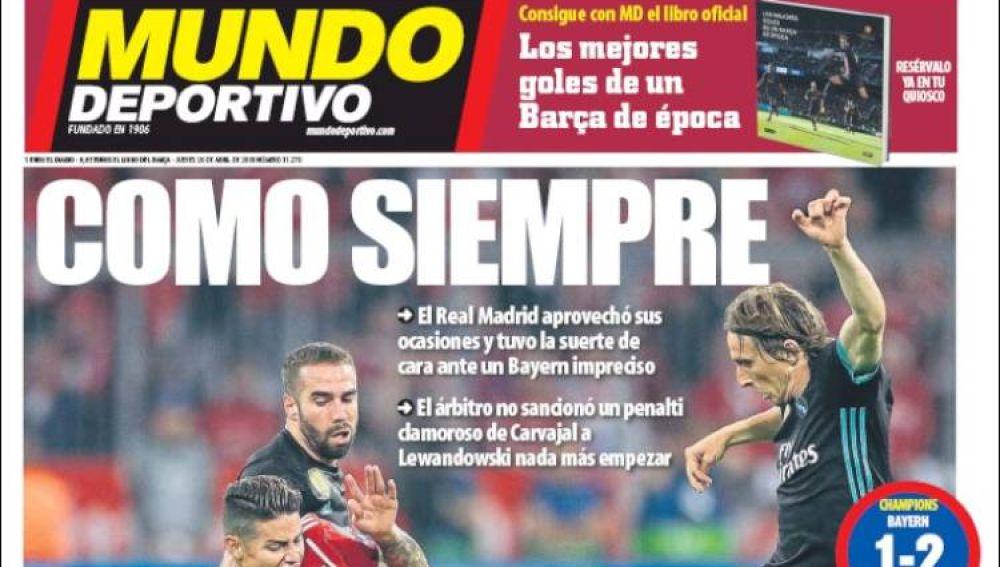 Portada del 'Mundo Deportivo'