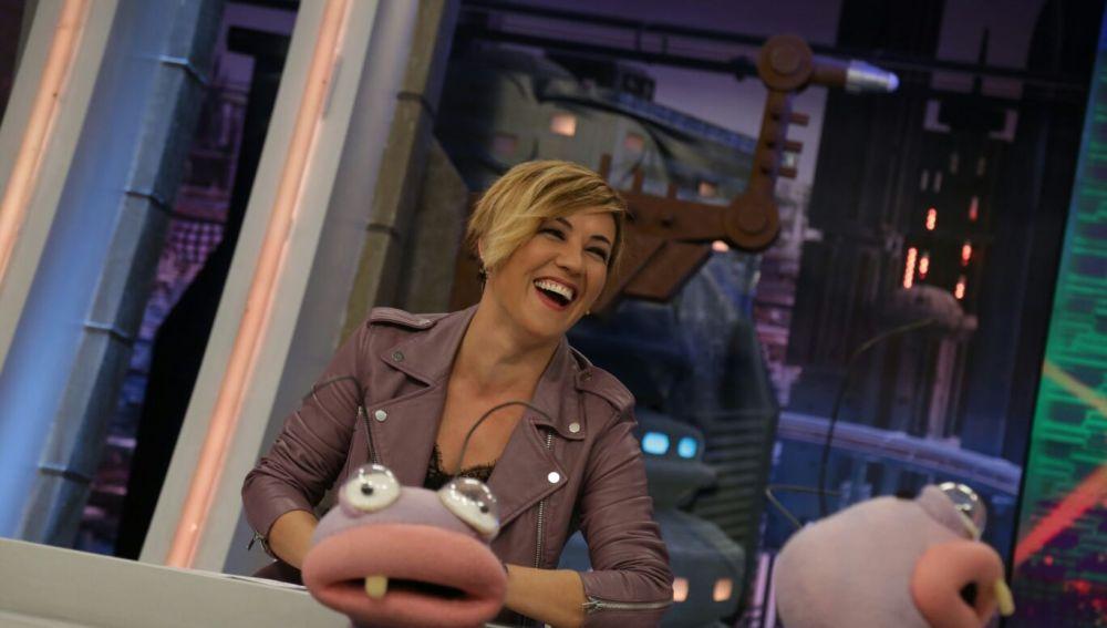 Cristina Pardo con Iñaki y Andrea en 'El Hormiguero 3.0'