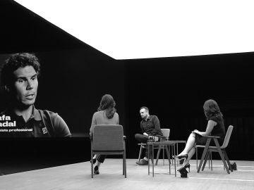 Rafael Nadal, Nacho Vigalondo, Aitana Sánchez-Gijón y Marta Fernández en Futuros de Sabadell