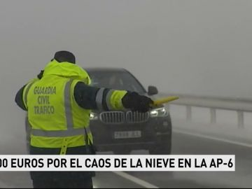 Fomento sancionará con 31.200 euros a Abertis por el colapso de la AP-6 por la nevada de enero