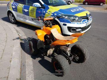 El quad que conducía el menor