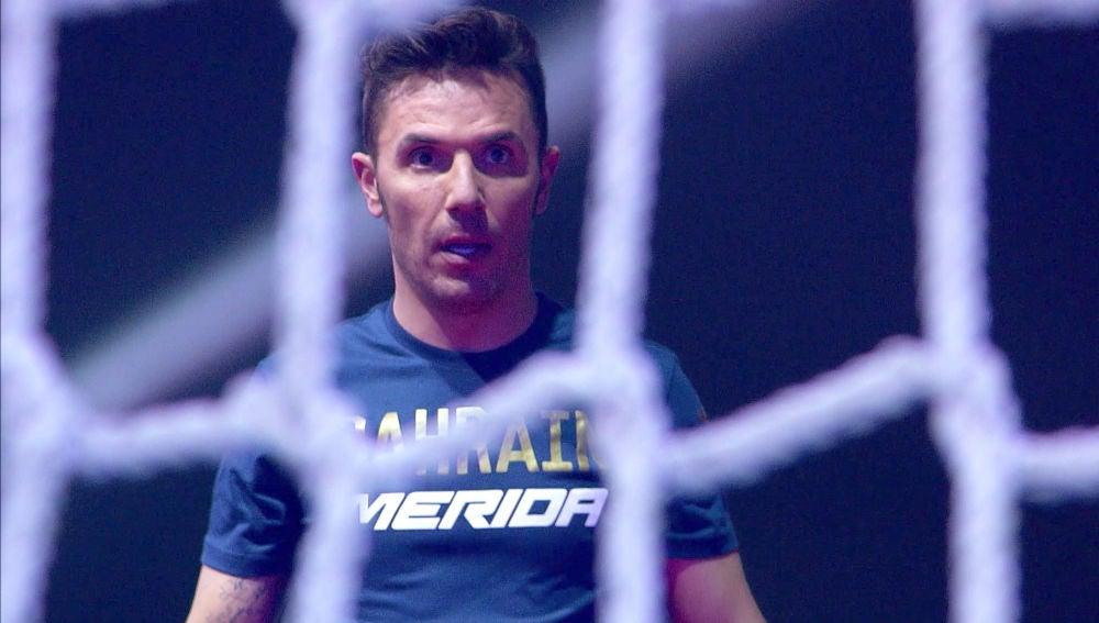 El ciclista Purito Rodríguez encara con fuerza el circuito de 'Ninja Warrior'