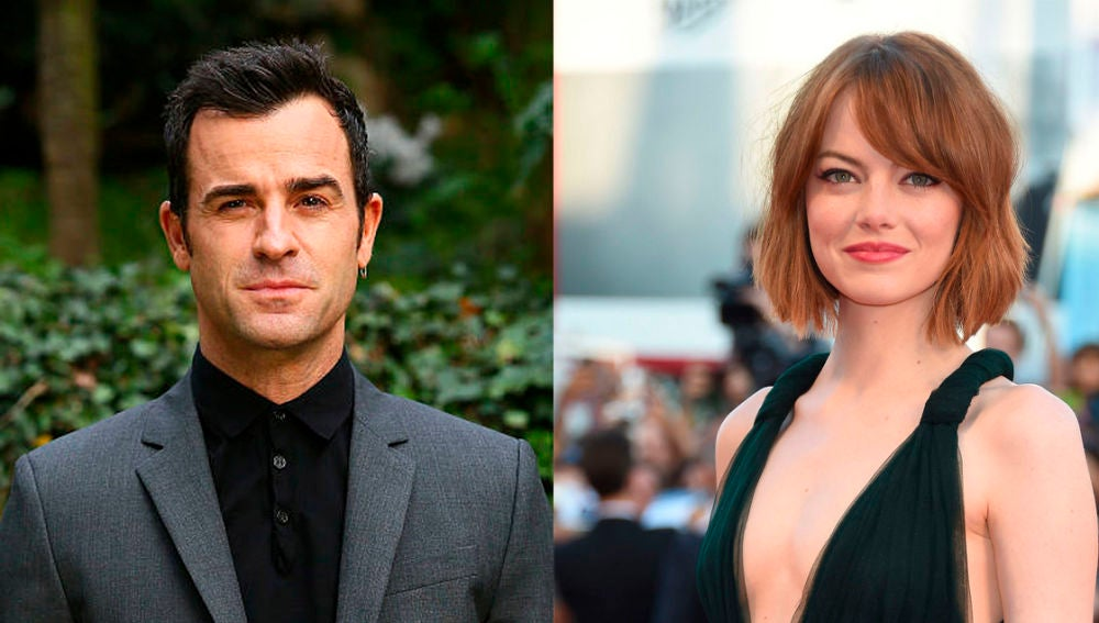 Justin Theroux y Emma Stone