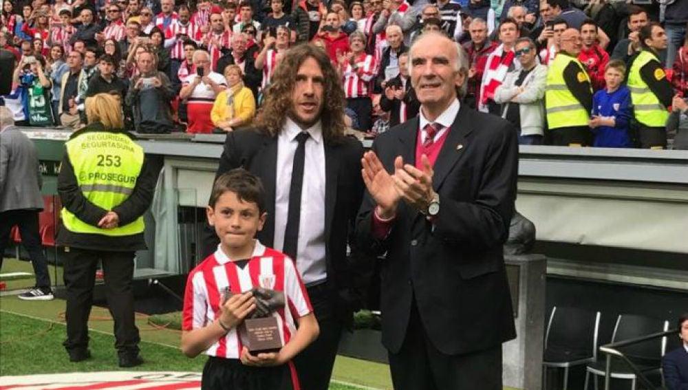 Puyol, con el One Club Man Award