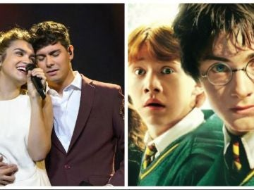 Alfred usa una frase de 'Harry Potter' en Eurovisión