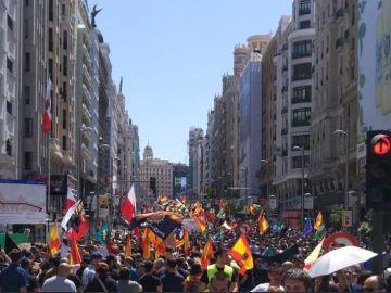 Manifestación policías y guardias civiles en Madrid