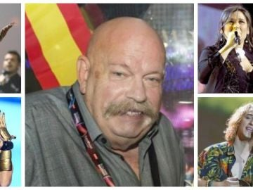 Los representantes de España en Eurovisión se despiden de José María Iñigo