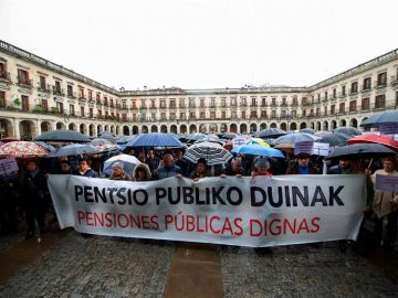 Fotografía de archivo de una manifestación por las pensiones