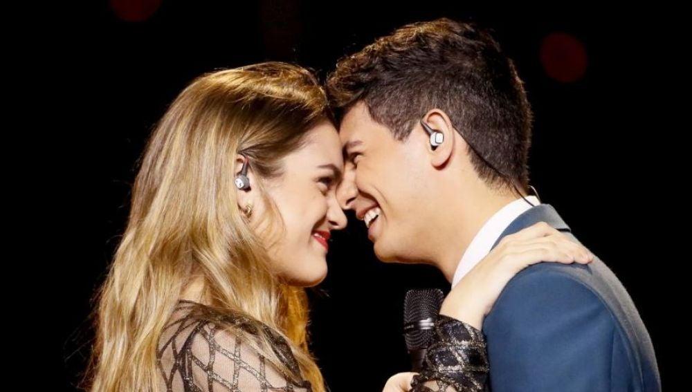 Amaia y Alfred en el segundo ensayo en Eurovisión