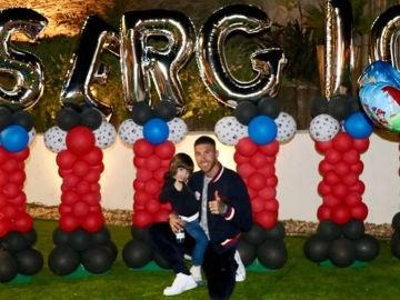 Sergio Ramos celebrando el cumpleaños de su hijo mayor