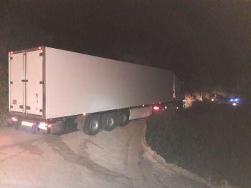 Camión bloqueado por culpa del GPS