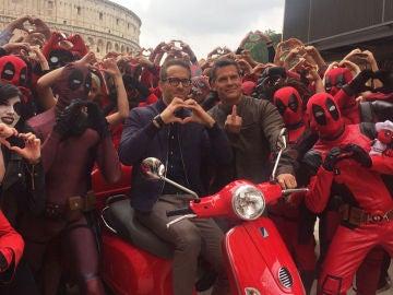 Ryan Reynolds y Josh Brolin, juntos en Roma