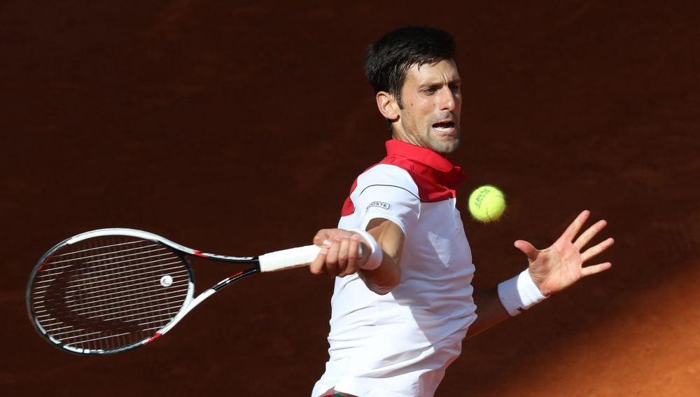 Novak Djokovic, en acción en la pista Manolo Santana