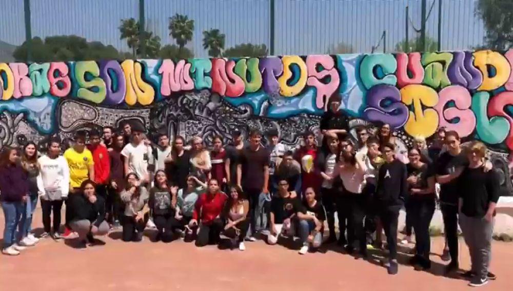 Alumnos del instituto Los Manantiales, en Torremolinos