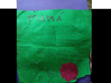 La carta que escribió el pequeño Maicol Rueda Álvarez antes de morir
