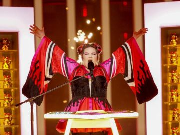 Netta, durante el ensayo de Eurovisión 2018