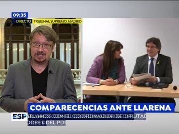 """Domènech, sobre Puigdemont: """"No puede ser que estemos en manos de una persona que no sabemos si quiere formar gobierno o llevarnos a elecciones"""""""
