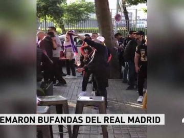 Centenares de Boixos Nois se concentraron en los aledaños del Camp Nou antes del Clásico