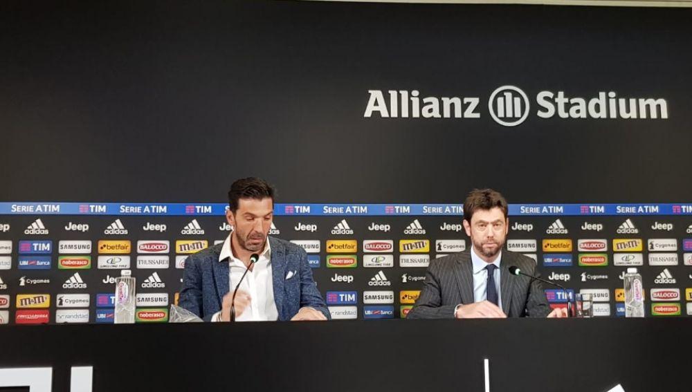Buffon, en rueda de prensa