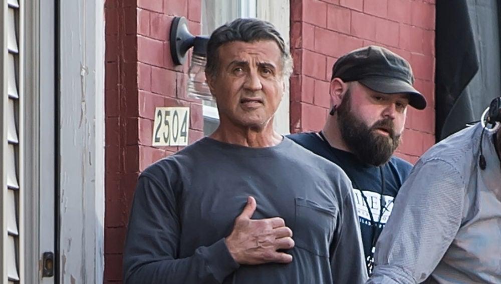 Sylvester Stallone en el rodaje de 'Creed II'