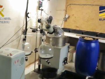 Desmantelado el mayor laboratorio de drogas sintéticas en España