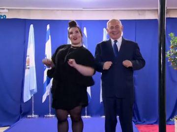 """El polémico """"baile de la gallina"""" de Netanyahu"""