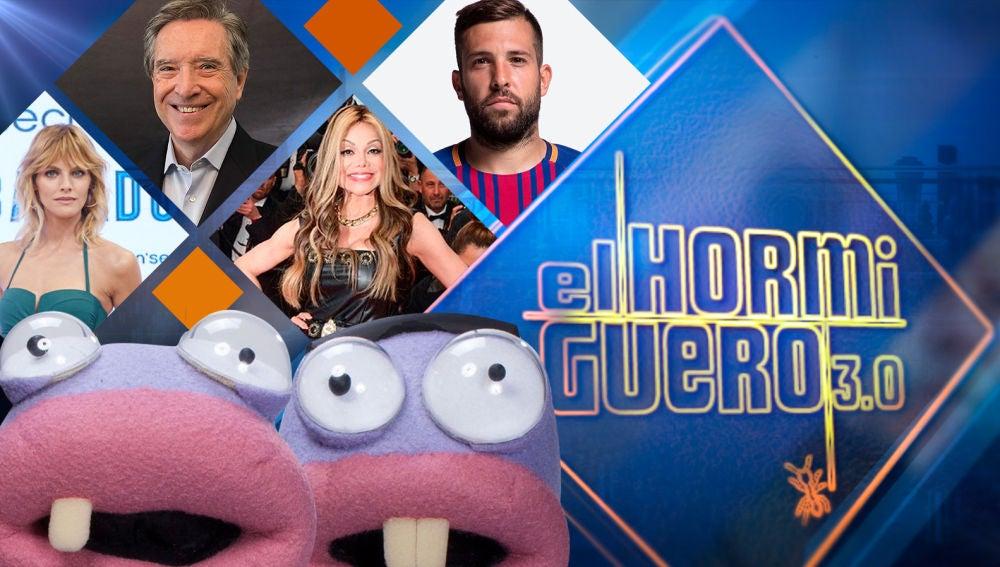 Amaia Salamanca, Iñaki Gabilondo, La Toya Jackson y Jordi Alba en 'El Hormiguero 3.0'
