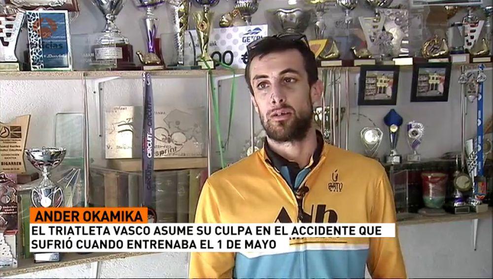 """Ander Okamika, el triatleta vasco que asume su culpa en un accidente: """"Casi pago muy caro una imprudencia"""""""