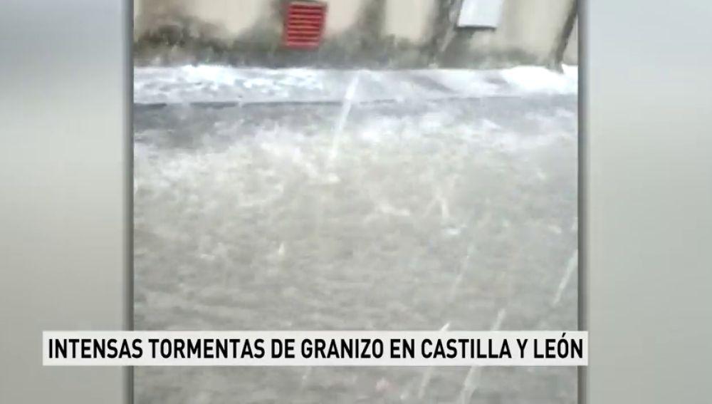 Intensas tormentas de granizo en Castilla y León