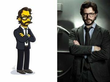 """El Profesor de 'La Casa de Papel' """"simpsonizado"""""""