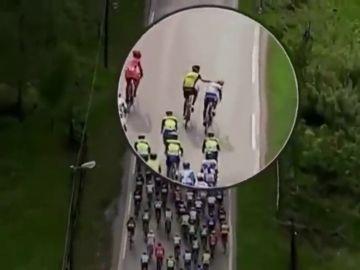 Lars Boom, expulsado del Tour de Normandía tras propinar un puñetazo a otro ciclista en plena carrera