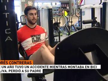 """Andrés Contreras, ciclista atropellado hace un año en el accidente de Oliva: """"Mi padre ya no está"""""""
