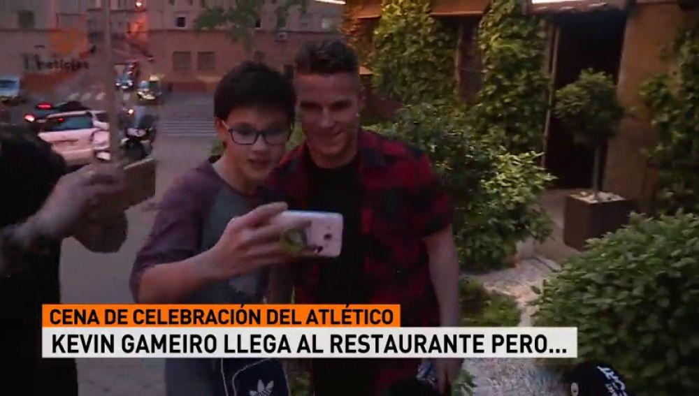 El despiste de Gameiro en la cena del Atlético: se equivocó de restaurante...