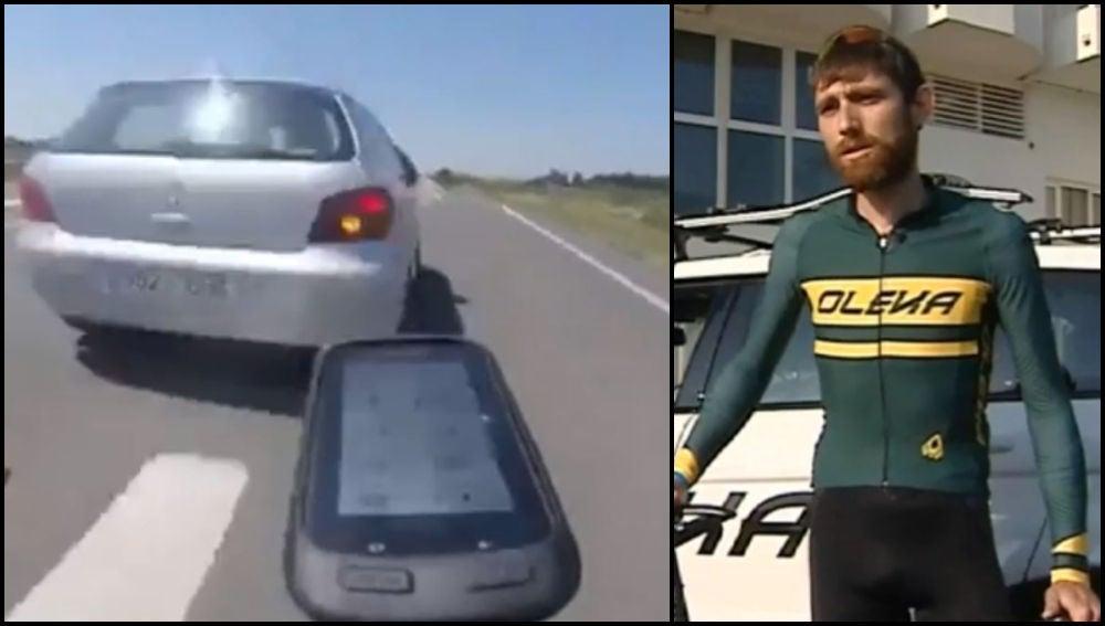 Albert Masana, el ciclista que casi es arrollado por un coche