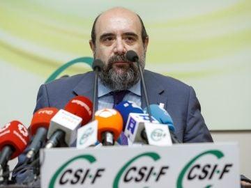 El presidente de la Central Sindical Independiente y de Funcionarios (CSIF), Miguel Borra