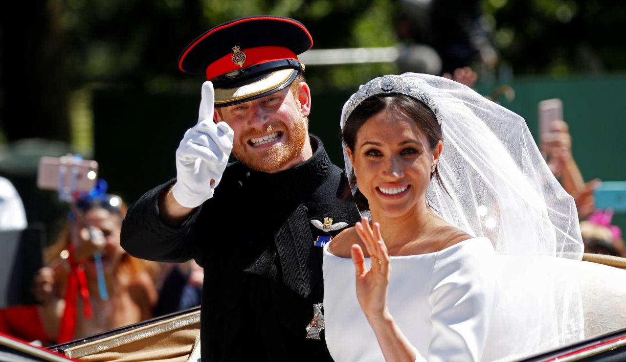 Meghan Markle y el príncipe Harry en su boda