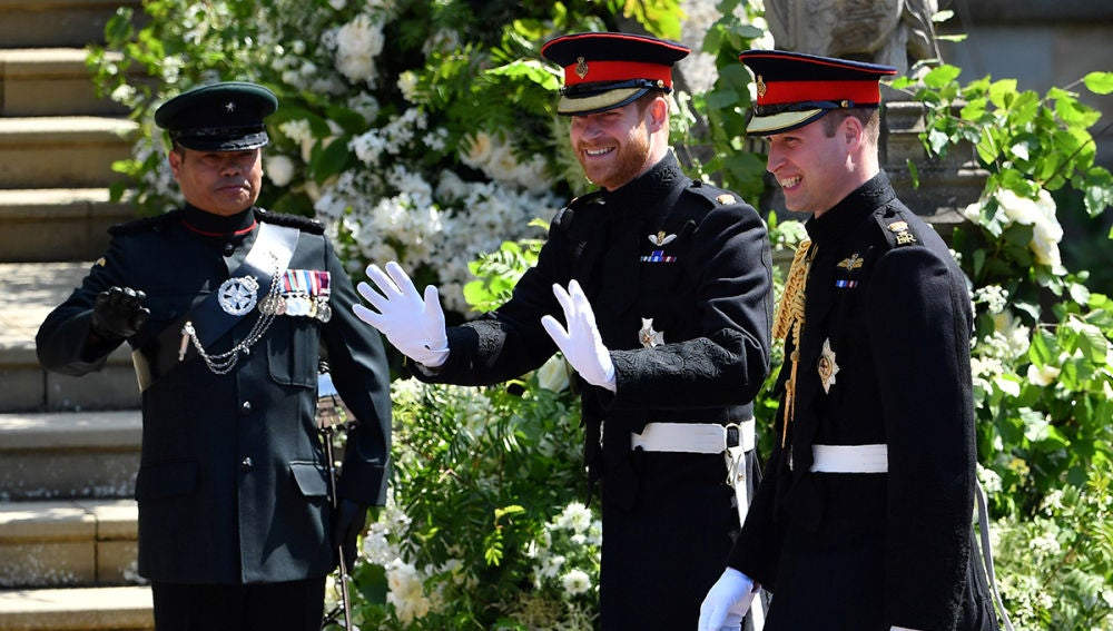 La llegada del príncipe Harry a Windsor