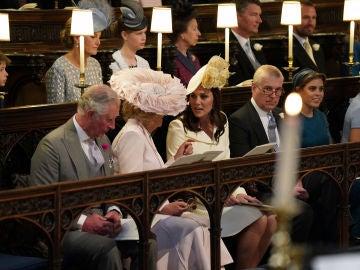 La Familia Real británica, en la boda del príncipe Harry