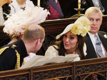 Kate Middleton en la boda de Meghan Markle y el príncipe Harry