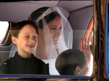 Meghan Markle llega al palacio de Windsor