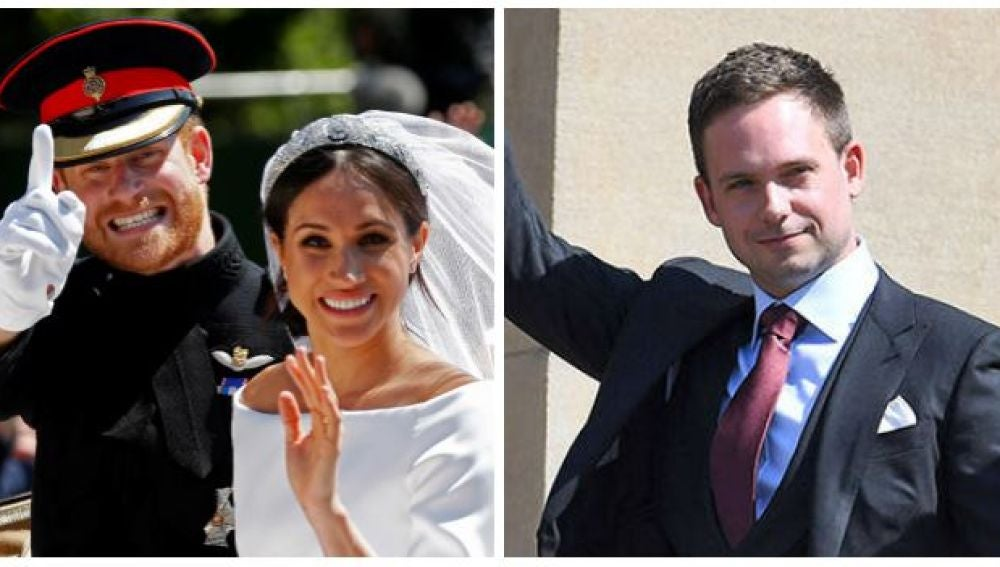 Patrick J. Adams, actor de 'Suits', en la boda de Meghan Markle y el príncipe Harry