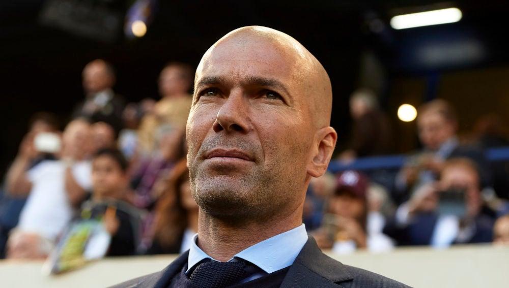 Zidane, durante el partido contra el Villarreal